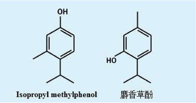 イソプロピルメチルフェノール構造式